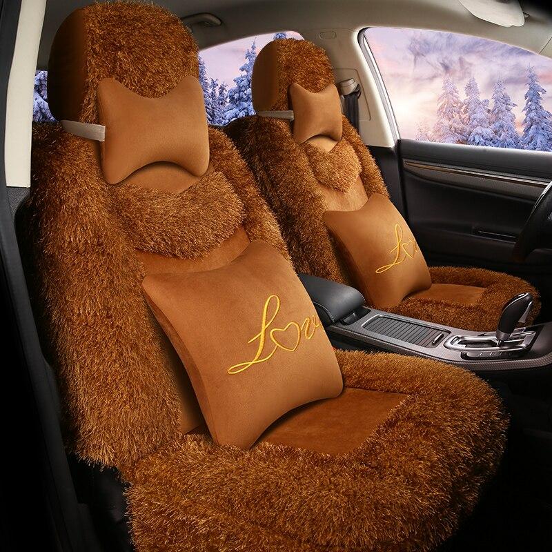Car Seat Cover Artificial plush Auto Seats Covers for suzuki grand vitara liana volvo s40 s60 s80 v40 v50 v60 v70 xc40 xc70 xc90