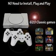 Mini contrôleur de Console de jeu vidéo Super rétro intégré 620 jeux AV out 8 bits famille TV double manette Support 2 joueur de jeu