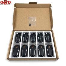 Xhorse clé télécommande universelle à 4 boutons, 10 pièces, pour voiture Ford MINI programmateur VVDI, outil de clé MAX, Version anglaise, XKFO01/XEFO01EN