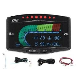 12 V/24 V 5 w 1 samochodów uniwersalne do ciężarówki LCD cyfrowy Instrument miernik ciśnienia oleju Volt woltomierz wskaźnik paliwa temperatury wody Tachome