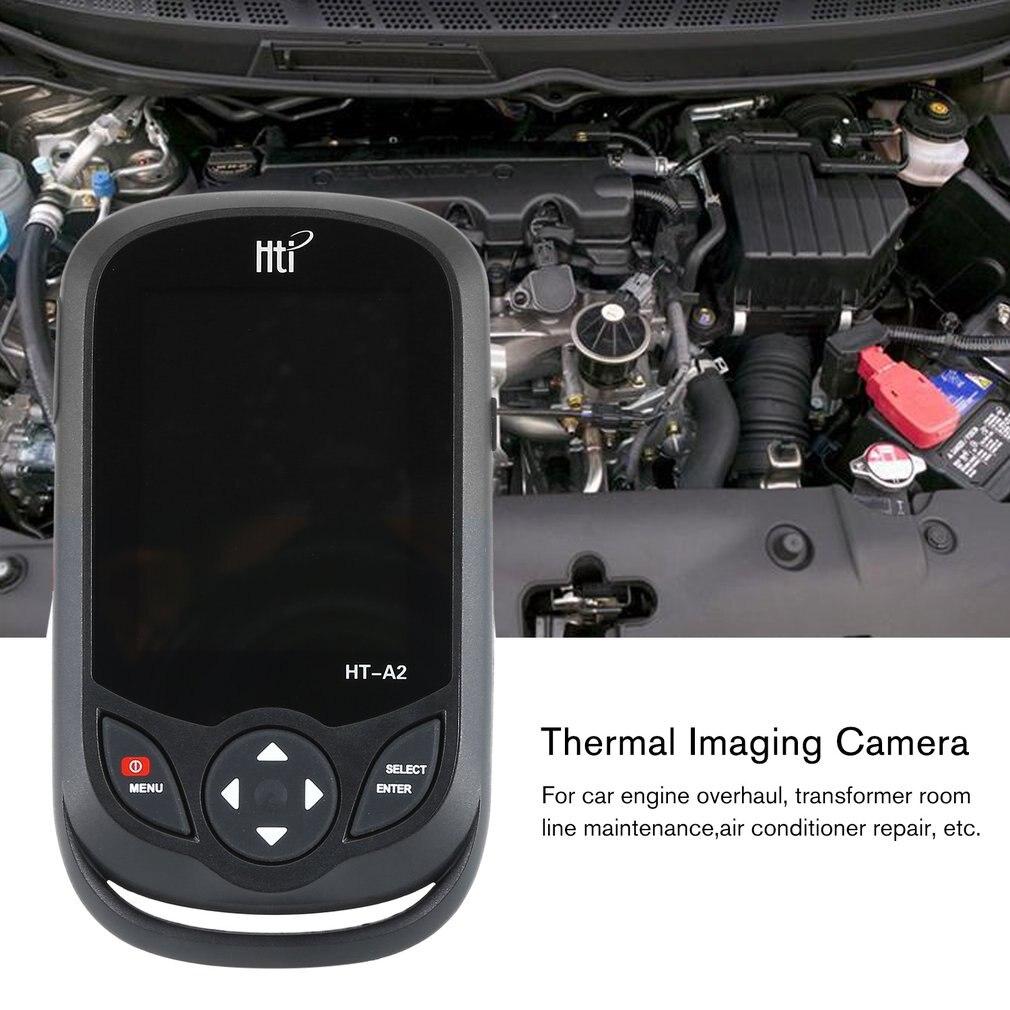 HT A2 3.2 polegada digital ir câmera de imagem térmica 0.3mp visão completa tft tela termômetro infravermelho câmera de imagem térmica detector - 5