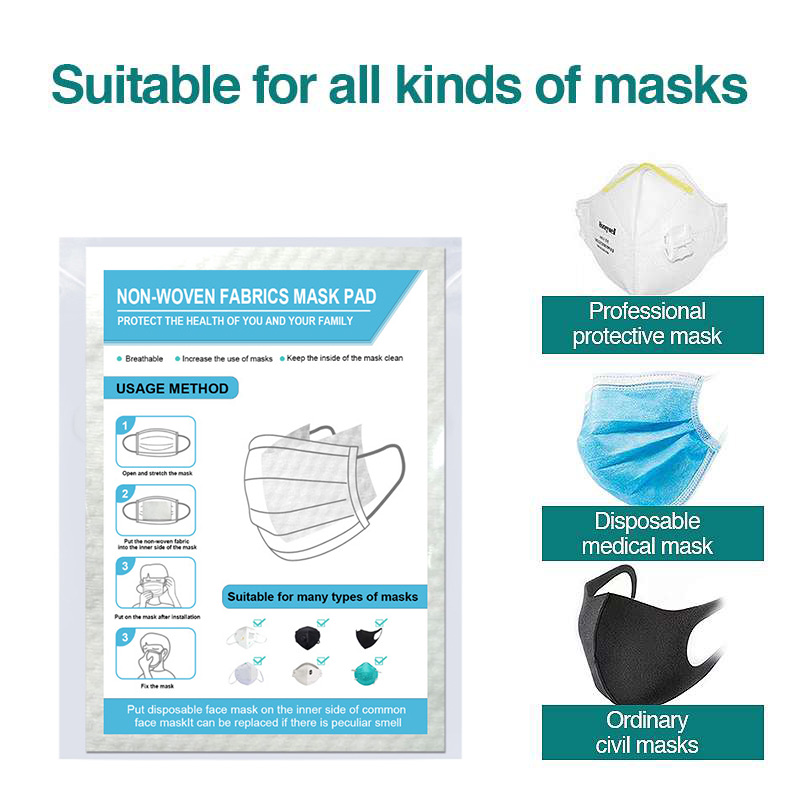 10Pcs High Quality Non-woven Disposable Mask Gasket Filter Medical Mask Replacement Gasket Isolation Bacteria Disposable
