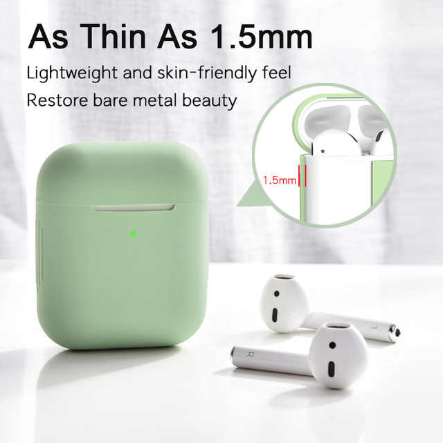 Soft Silicone Airpods Cases For Apple Airpods 1/2 Cases Wireless Bluetooth Headphones Cover For Apple air pods Charging Box Bags 5