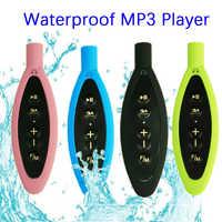 Tragbare IPX8 Wasserdichte MP3 Player Im Freien Sport Musik-Player FM Radio 4GB für Schwimmen Tauchen Surfen Radfahren