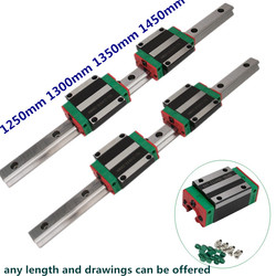 CNC 20 мм 1250 мм 1300 мм 1350 мм 1450 мм набор линейных рельсов HGR20 направляющая с HGH20CA Каретный блок HGW20 HGW20CC