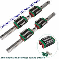 CNC 20mm 1250mm 1300mm 1350mm 1450mm Linear Rail Set HGR20 Slide Guide with HGH20CA Carriage Block HGW20 HGW20CC
