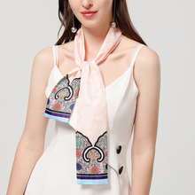 2020 Design Silk Neck Scarf for Lady Brand Print Hair Band W
