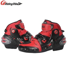 Protector Motorcycle-Boots Riding-Shoes Off-Road-Racing Gear Woman Rider A9001 Feet Anti-Skid