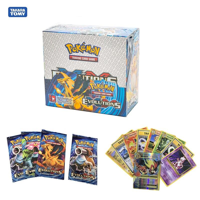 324Pcs Pokemon Cards toys Box TCG: Sun & Moon Evolutions Pokemon Booster Shinny Card Pokemon Game Toy Kids Birthday Gift
