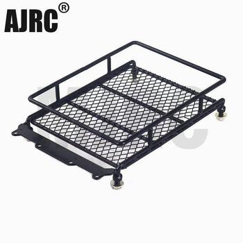 1/10 RC Car Rock Crawler Metal Roof Rack Luggage Carrier with LED Lights Bar for TAMIYA D90 CC01 AXIAL SCX10 RC Luggage Rack jazrider steel luggage tray roof rack with light for 1 10 rc car truck tamiya axial