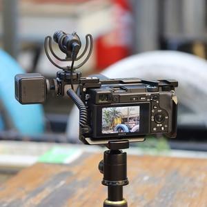 Image 3 - UURig R021 ogólna klatka operatorska Rig podwójna gorąca zimna stopka Mic uchwyt uniwersalny do Sony Nikon Canon akcesoria do lustrzanek cyfrowych