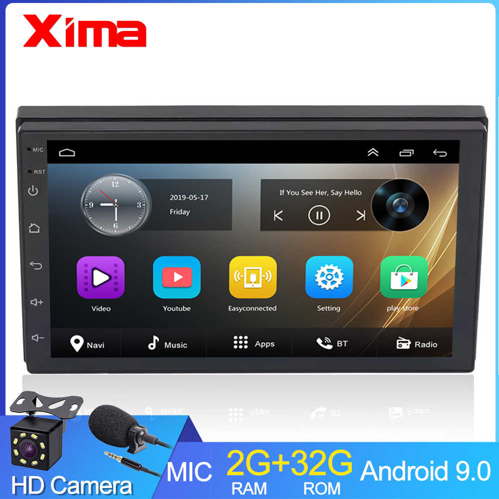 "Xima Android9.0 2Din Mobil Radio Multimedia Player 7 ""Universal RAM2G Gps Navigasi Audio Player untuk Nissan Toyota Hyundai POLO"