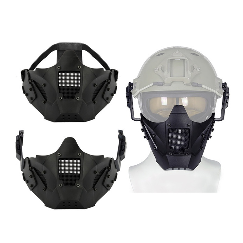 Airsoft Paintball Hunting Mask Tactical Combat Half Face Mask Military War Game Protective Half Face Mask