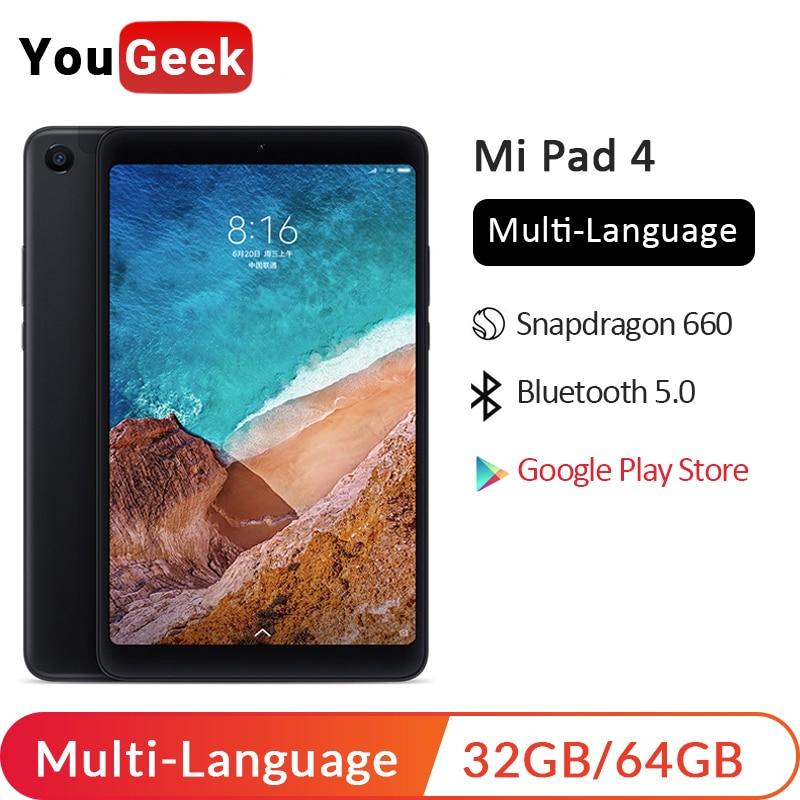"""Xiaomi Mi Pad 4 MiPad 4 LTE WIFI OTG 8"""" Tablets 32GB 64GB PC Snapdragon 660 Octa Core 6000mah 1920x1200 FHD 13MP Android Tablet"""
