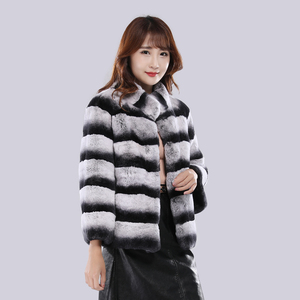Image 2 - 2020 Hot Sale Women Winter Hight Quality Real Rex Rabbit Fur Coat Russia Lady Warm Natural 100% Genuine Rex Rabbit Fur Jacket