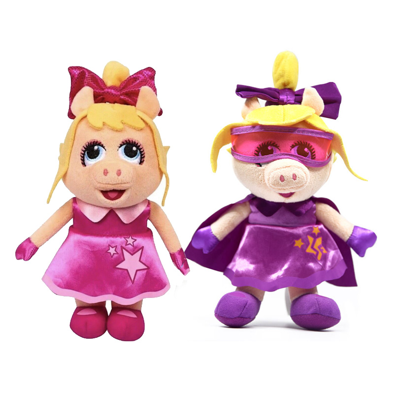 23cm Junior MUPPET BABIES Muppets Show Eye Mask ToddlerDress Pig Miss Piggy Plush Toy