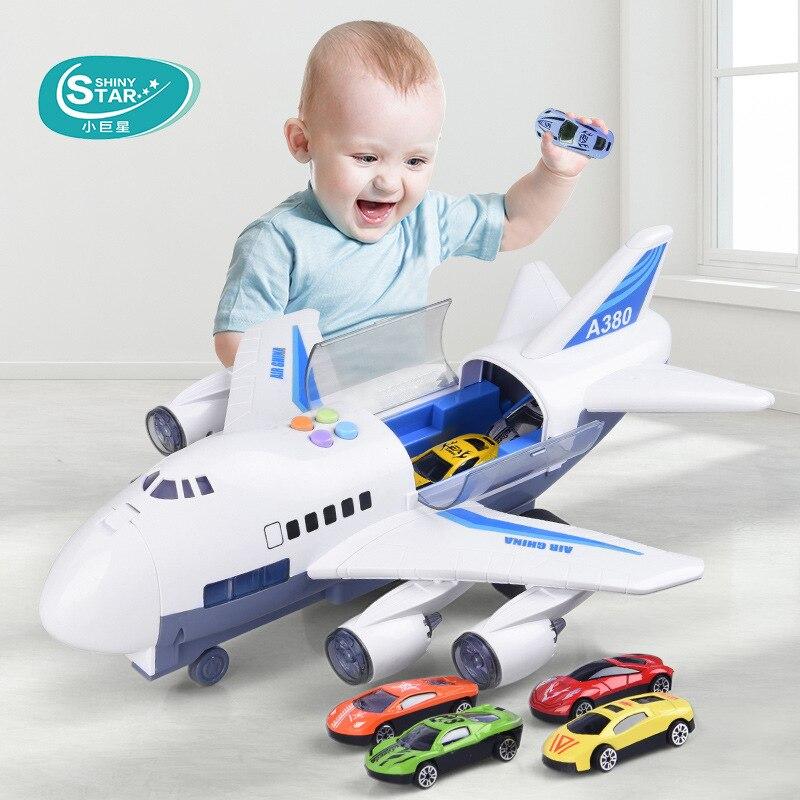 Avion pour enfants inertiel jouets éducatifs garçon bébé Super grande musique piste Simulation modèle voiture d'avion de tourisme