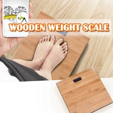 Wooden Body Scale Bathroom Weight Scale Smart Human Body Weight Scale Wood Anti-skid Display Back Light Household Bathroom hot