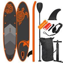 Sup estande placa de remo, prancha de surf, saco, remo, barbatana, bomba de ar, kit de reparo, coleira de pé