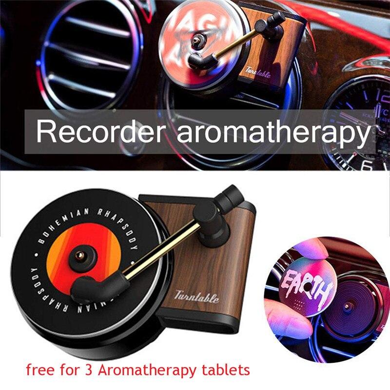 Vitrola Respiradouro de Ar Do Carro Ambientador de Carro Perfume Difusor Do Carro Rotativo Retro Acessórios Interiores Do Carro Acessório Do Carro Livre para 3