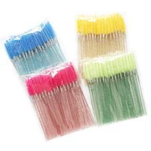 New 50pcs/Pack Disposable Eyelash Brushes Makeup Mascara Applicator Wand Eyes Lip Cosmetics Eye Lashes Cosmetic Brush 4p