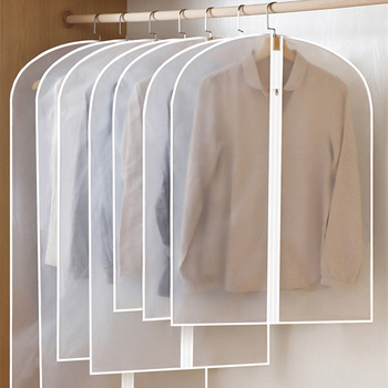 Wardrobe Hanging Clothing Cover Clear Suit Garment Coat Dust Bag Household Clothes Dust Cover Wardrobe Organizer Storage Bag 3pcs clothes dust cover dustproof garment cloth storage waterproof suit coat protector storage bag hanging organizer wardrobe