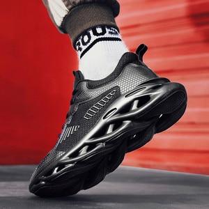 Image 3 - אופנה גברים של נעלי ספורט חיצוני לנשימה רשת Mens נעליים יומיומיות Chaussure Homme בטיחות נעלי Zapatillas Hombre ריצה ספורט