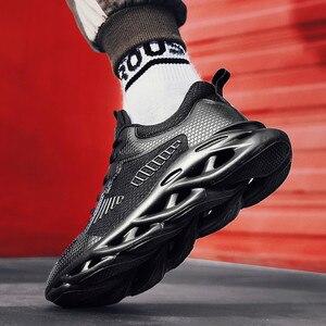 Image 3 - Mode hommes baskets en plein air respirant maille hommes chaussures décontractées Chaussure Homme chaussures de sécurité Zapatillas Hombre sport de course