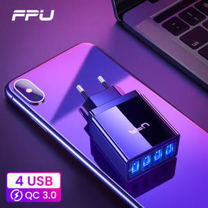 FPU USB Charger Quick Charge 3.0 Fast Charger QC3.0 QC Multi Plug Adapter Wall Mobile Phone Charger For iPhone Samsung Xiaomi Mi