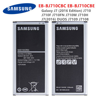 цена на SAMSUNG Orginal EB-BJ710CBC EB-BJ710CBE 3300mAh battery For Samsung Galaxy J7 (2016 Edition) J710 J710F/M/H/FN J7(2016) DUOS