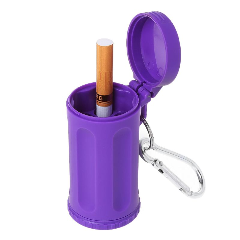 Portable Mini Pocket Lid Ashtray Windproof Key-chain Outdoor Smoking Accessories