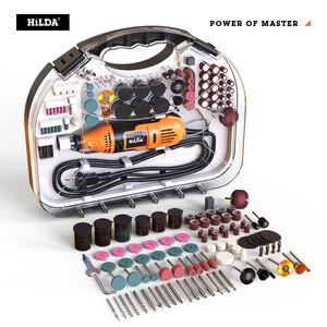 Image 2 - HILDA 전기 미니 드릴 Dremel 그라인더 조각 펜 미니 드릴 전기 로타리 도구 연삭 기계 Dremel 액세서리