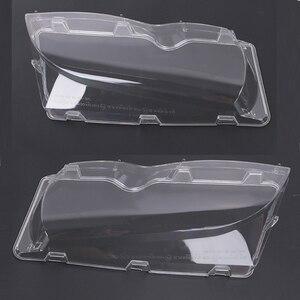 Image 2 - Mayitr 1 זוג 4 דלת רכב פנס זכוכית כיסוי ברור שמאל ימין פנס עדשת פגז עבור BMW E46 02 06