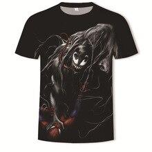 2019 Venom 3d Printing Short Sleeve T-shirt Male tshirt Youth Trend streetwear summer top
