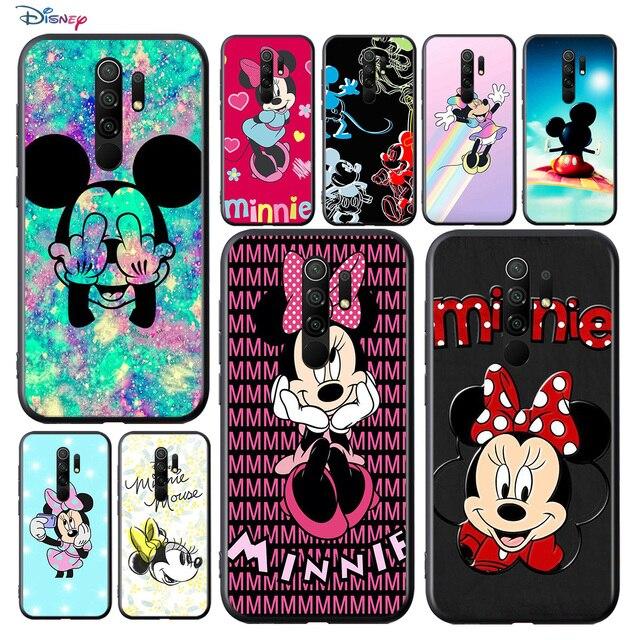 Disney Họa Tiết Hoạt Hình Đáng Yêu Hình Chuột Mickey Cho Xiaomi Redmi 9A 9C 9 Thủ Đi 8A 8 7A 7 S2 6A 6 5 Pro Plus Đen Ốp Lưng Điện Thoại