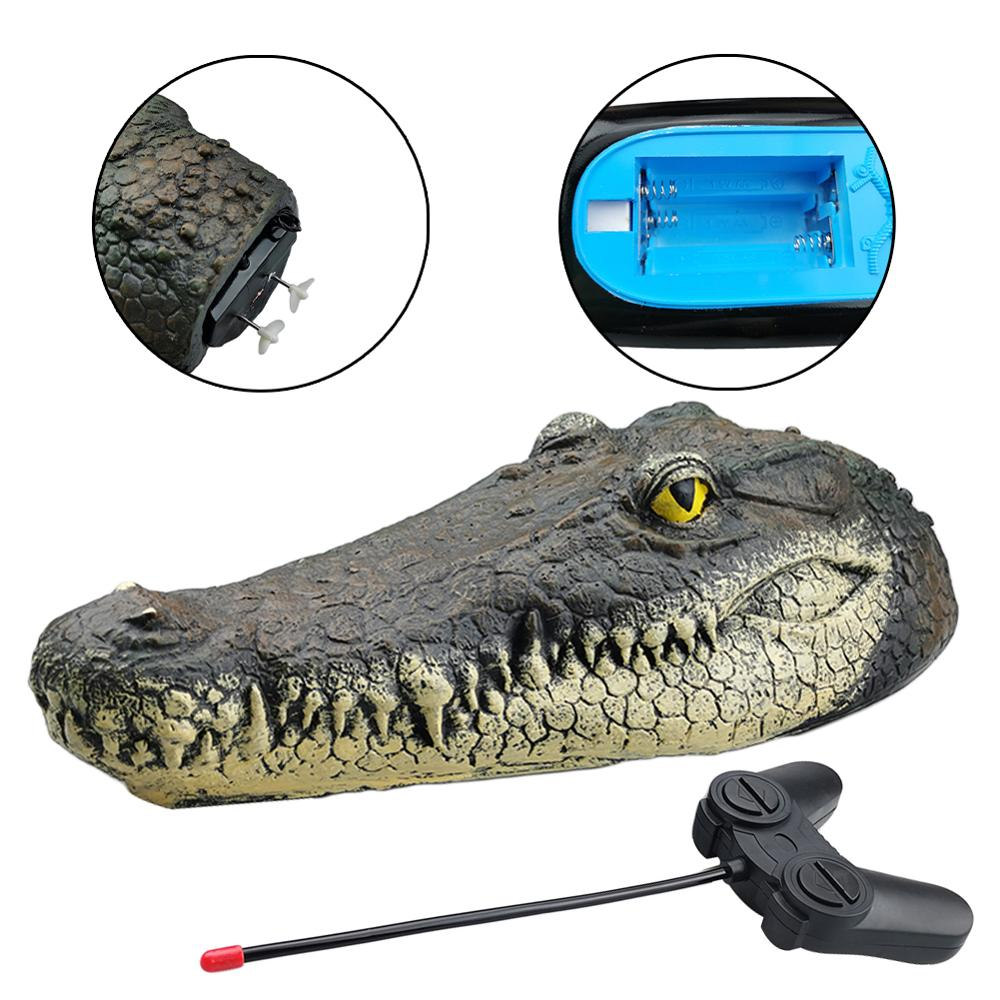 Floating Crocodile Head With Remote Pond Pool Realistic Water Features Decorations Imitation Crocodile Fish Pond Decoration