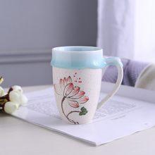1pcs/3pcs China Ceramic Coffee Cup Porcelain Personal Single Tea Cups Pottery Drinkware Wine Mug Wholesale Water Drinkware