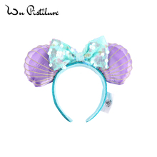 Headband COSTUME Sequin-Ears Mermaid Plush Princess-Flowers Cartoon Adult/kids Cosplay