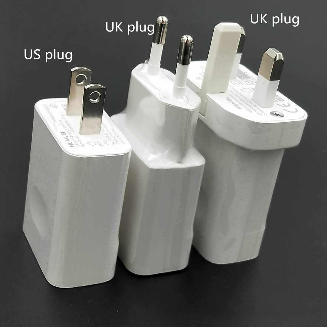 Original EU US อะแดปเตอร์ Huawei 5V 2A USB Charger 100 ซม.Micro สำหรับ P6 P7 P10 Lite Mate 10 Lite Honor 8C 8X 7X Y5 Y6 Y7 Y9 8X