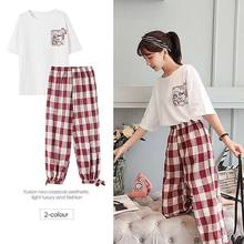 Hong Kong-Style Fashion Women's Suits Student INS Smell GIRL'S Set BF Loose Hip Hop Style Best Friend-Two-Piece Set(China)