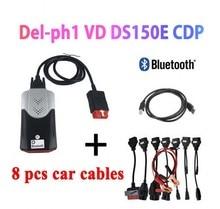 2020 vd tcs cdp Obd Obd2 Scanner For Delphis vd DS150E cdp 2016.R0 Bluetooth For Car Trucks Diagnostic Tool+8 Pcs Car Cables цена 2017