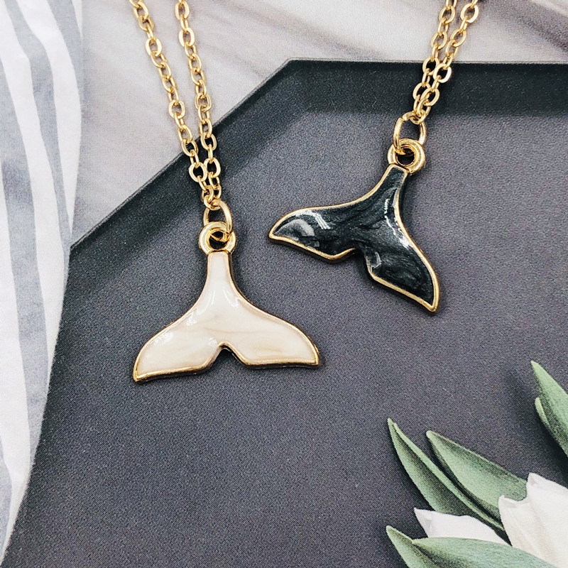 Innovative personalized fishtail women 39 s necklace 2019 new fishtail pendant alloy chain necklace Birthday gift for girls in Pendant Necklaces from Jewelry amp Accessories