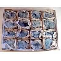 30-60MM Natural Celestite Geode Crystal Quartz Crystal Cluster Specimen