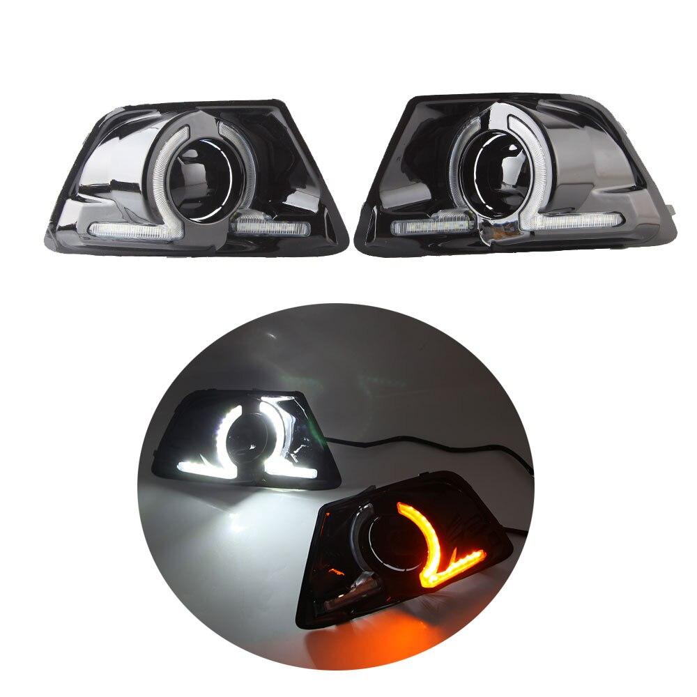 1 set LED DRL Scheinwerfer für Ford Ecosport 2013 2014 2015 2016 Tagfahrlicht Gelb Blinker Lampe Fahren lampe