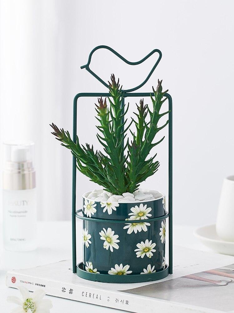 Скандинавские минималистичные комнатные керамические зеленые
