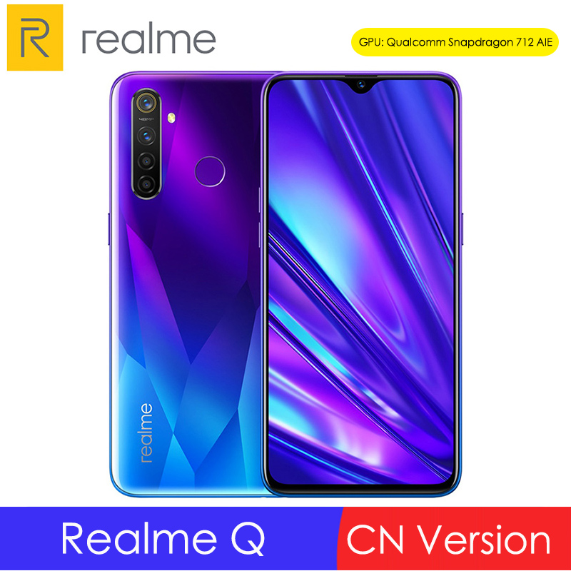 OPPO Realme Q 6.3'' Dewdrop 4/6/8GB RAM 64/128GB ROM Snapdragon 712 Octa Core 48MP Camera 20W Fast Charge 4035mAh Moblie Phone