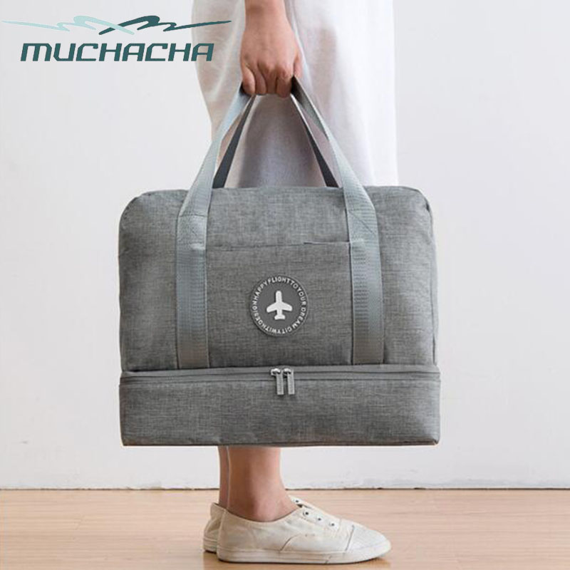 Muchacha Brand Waterproof Travel Dry And Wet Separate Lady Fitness Swimming Shoes Storage Wash Beach Bag