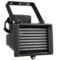 Iluminador LED de visión nocturna infrarrojo, iluminación auxiliar para exteriores, impermeable, para cámara de vigilancia, CCTV, 96 leds, 60m