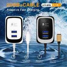 USB Quick Charge 3.0 EU Cắm Di Động Điện Thoại Phụ Kiện Sạc Nhanh Cho Huawei Samsung Xiaomi Máy Tính Bảng Treo Tường Adapter