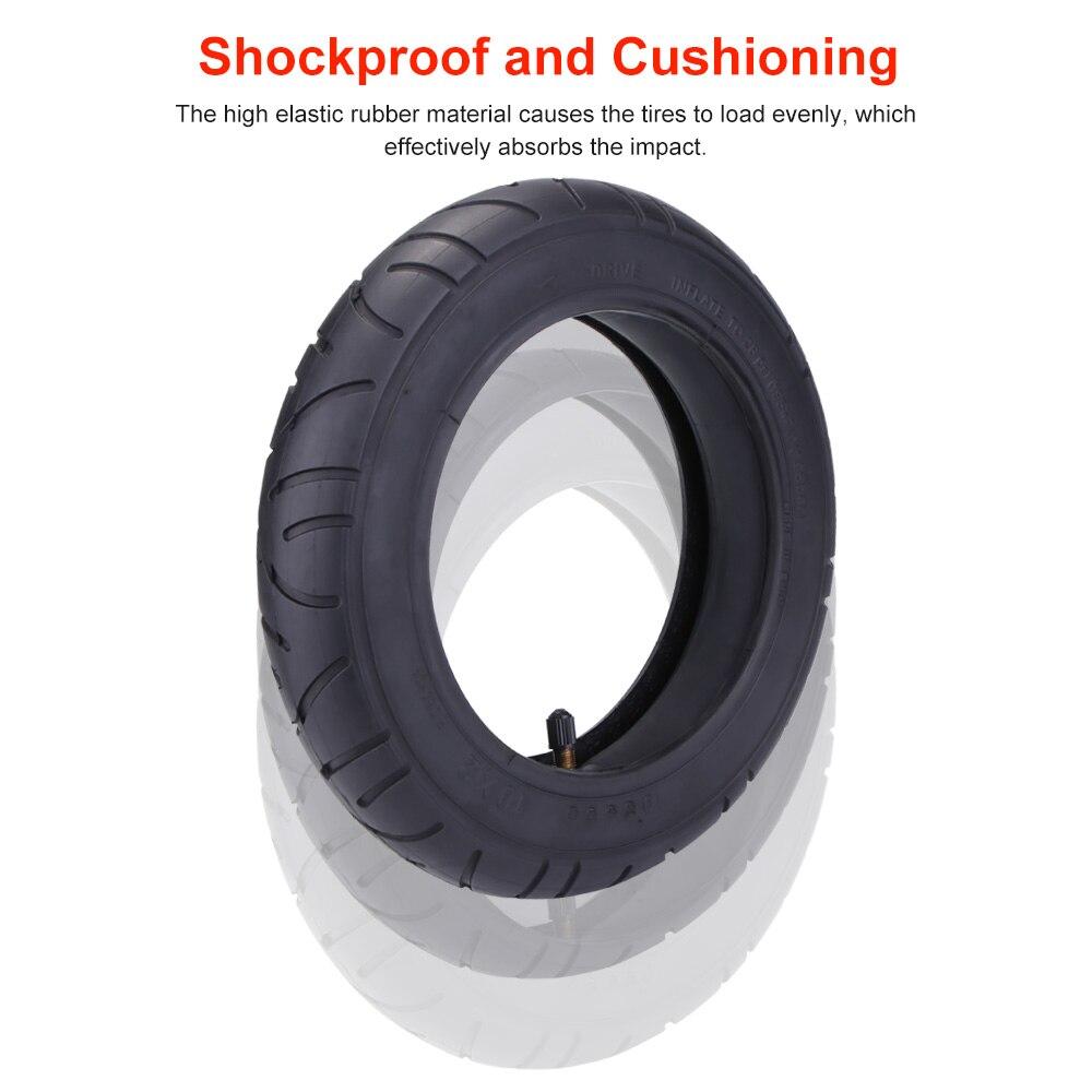 Jeu de pneus de roue pneumatique pour Xiaomi M365 10 pouces accessoires de Scooter électrique Tube antichoc pneu 10x2 roue pneu Tube extérieur